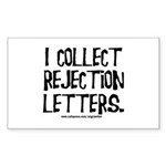 Rejection Letters Rectangle Sticker