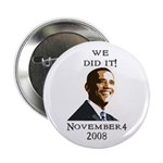 """Obama Victory 2.25"""" Button (10 pack)"""