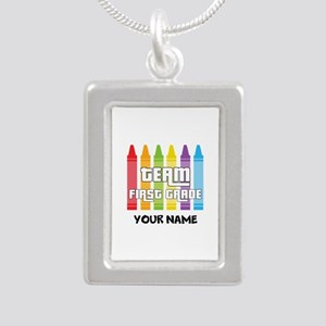 Team First Grade Silver Portrait Necklace