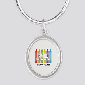 Team First Grade Silver Oval Necklace