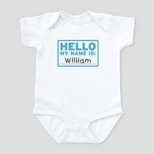 Hello My Name Is: William - Infant Bodysuit
