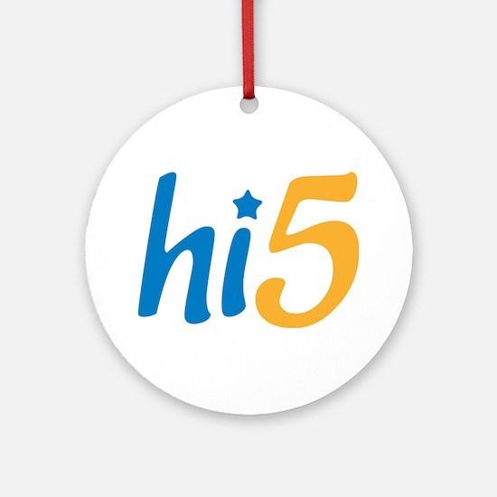 hi5 Ornament (Round)