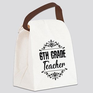 6th Grade Teacher Canvas Lunch Bag