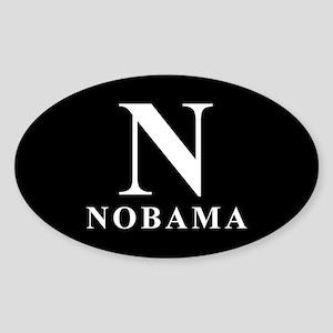 """Classic"" NOBAMA Oval Sticker"