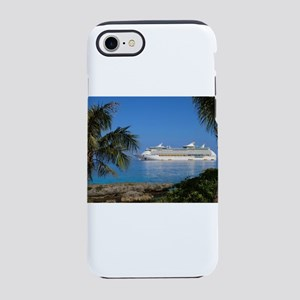 Cruise ship in Paradise iPhone 8/7 Tough Case