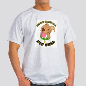 Owned by a Pit Bull Ash Grey T-Shirt