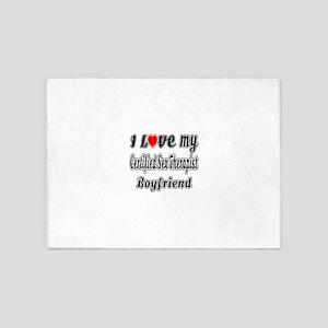I Love My Certified Sex Therapist B 5'x7'Area Rug