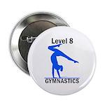 Gymnastics Button - Level 8