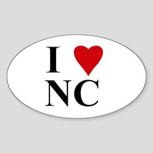 NORTH CAROLINA(NC) Oval Sticker