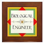 Biological Engineer Line Framed Tile