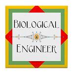 Biological Engineer Line Tile Coaster