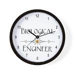 Biological Engineer Line Wall Clock