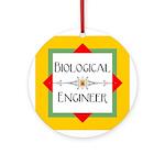 Biological Engineer Line Ornament (Round)