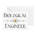 Biological Engineer Line Greeting Card