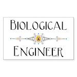 Biological Engineer Line Rectangle Sticker
