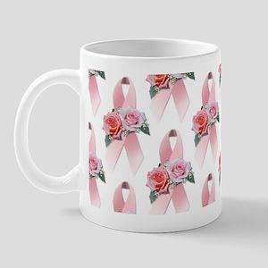 Breast Cancer Ribbon & Roses Mug