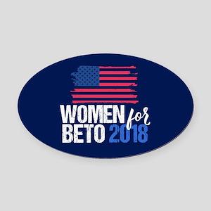 Women for Beto 2018 Oval Car Magnet