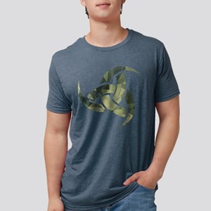 Triple Horn of Odin Distressed Camo T-Shirt