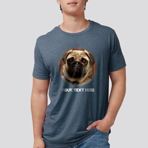 Pug photo personalized Mens Tri-blend T-Shirt