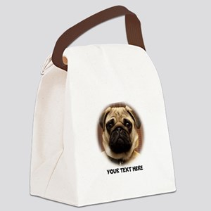 Pug photo personalized Canvas Lunch Bag