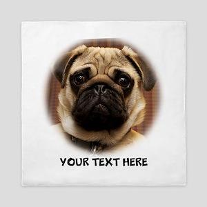 Pug photo personalized Queen Duvet