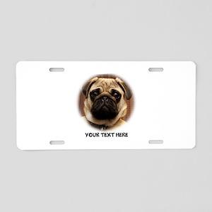 Pug photo personalized Aluminum License Plate