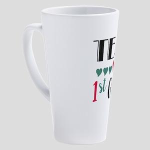 Team 1st Grade Teacher Shirts Back 17 oz Latte Mug