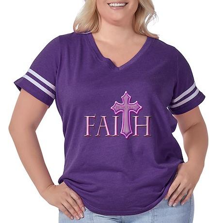 Woman of Faith Women's Plus Size Football T-Shirt