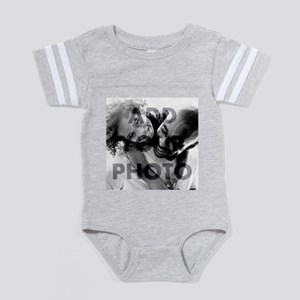 Add Your Photo Baby Football Bodysuit