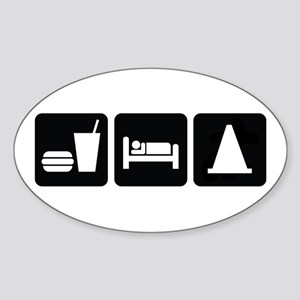 Eat Sleep AutoX Sticker (Oval)
