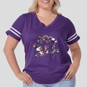 Peanuts Back to Women's Plus Size Football T-Shirt