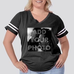 Add Your Photo Women's Plus Size Football T-Shirt