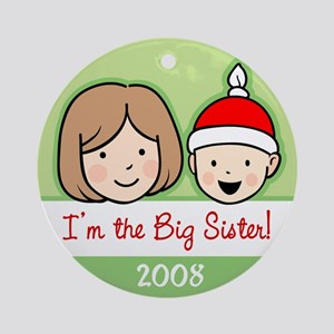 Big Sister Girl Ornament (Round)