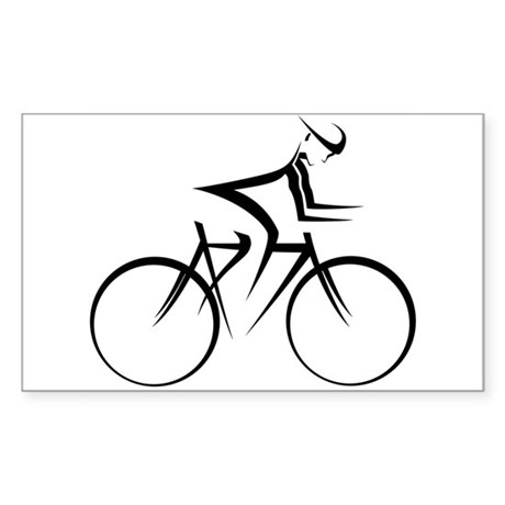 Cycling Rectangle Sticker