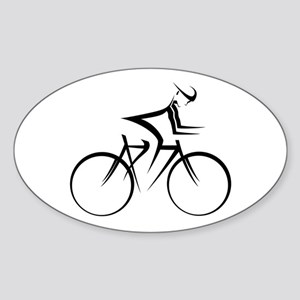Cycling Oval Sticker