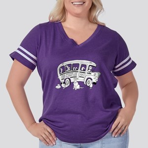 Short Bus Ducks Women's Plus Size Football T-Shirt