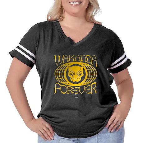 Black Panther W Women's Plus Size Football T-Shirt