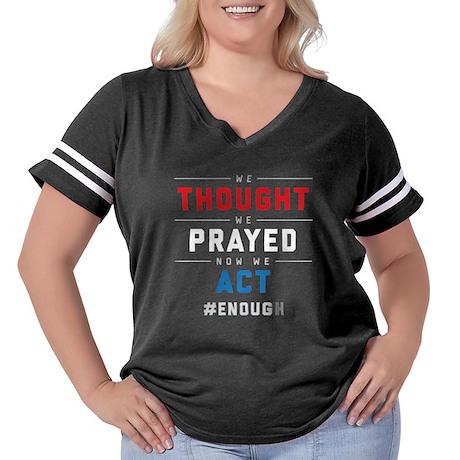 Now We Act #ENO Women's Plus Size Football T-Shirt