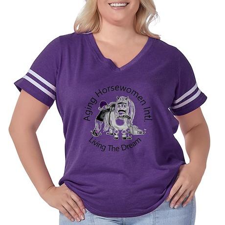 aging Horsewome Women's Plus Size Football T-Shirt