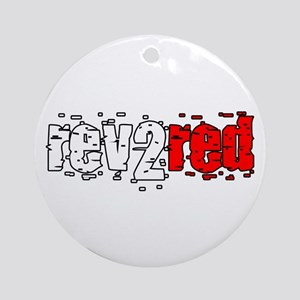 Rev 2 Red Ornament (Round)