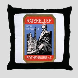 Ratskeller Rothenburg Germany Throw Pillow