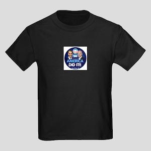 Obama Biden AMERICAN DID IT Kids Dark T-Shirt