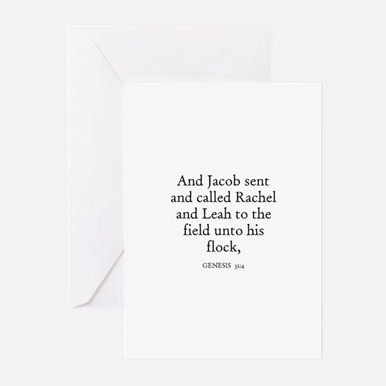 GENESIS  31:4 Greeting Cards (Pk of 10)