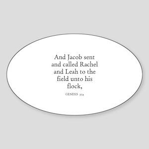 GENESIS 31:4 Oval Sticker