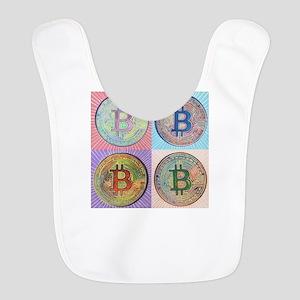 4 Bitcoin Polyester Baby Bib