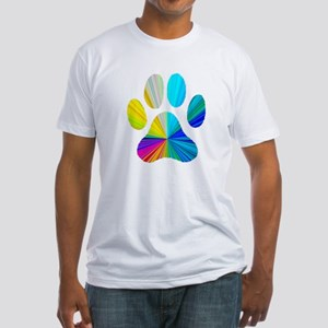 Paw Print Fitted T-Shirt