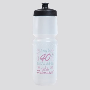40th Birthday For Princess Sports Bottle