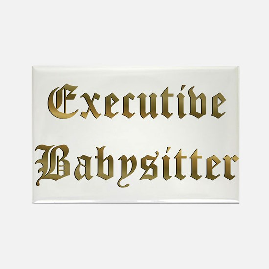 Executive Babysitter Rectangle Magnet