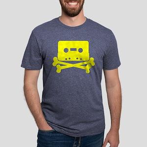 Yellow Cassette And Crossbones T-Shirt