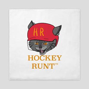 hockeyrunt head Queen Duvet